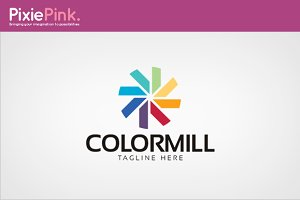 Color Mill Logo Template
