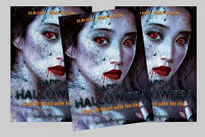 COLDNESS halloween flyer