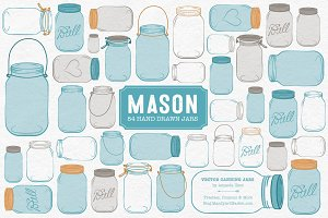 Vintage Blue Jar Vectors & Clipart