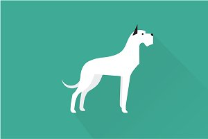 Great dane dog icon