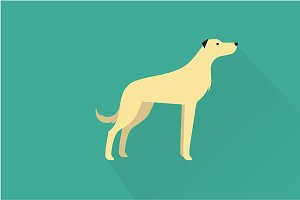 Wolfhound dog icon
