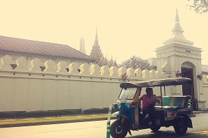 Took Took taxi at Wat Phra Kaeo,BKK