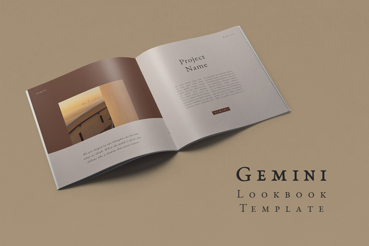 Gemini Lookbook Template