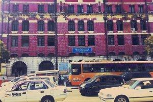 Building&Traffic in Yangong,Myanmar