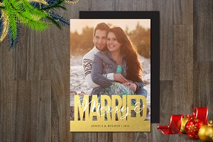 Merry & Married Photo Card