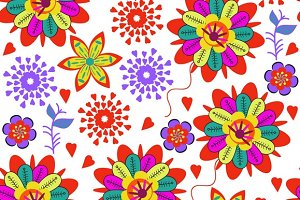 3 vector floral patterns