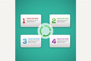 Infographics process template
