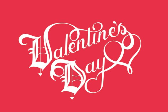 Vector Valentine S Day Lettering Graphics Creative Market