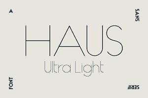 HAUS Sans Ultra Light