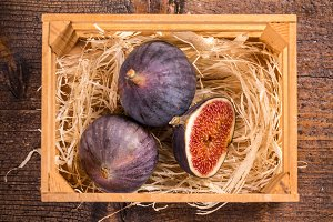 Top view of figs