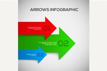 3D Infographic with arrows. Vector.