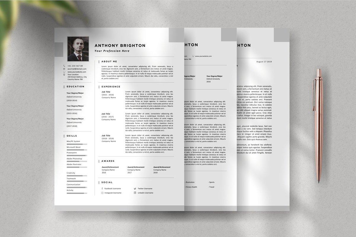 3 Page Resume Template - CV Resume
