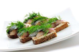 Sandwiches herring