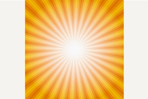 Sun Sunburst Pattern.