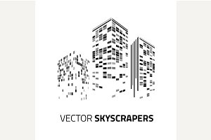 City background - skyscrapers