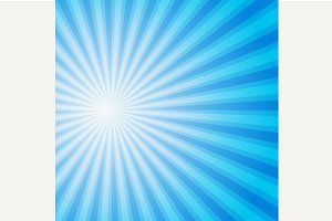 Blue color burst background.