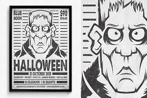 Wanted Halloween Poster
