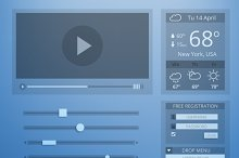 UI flat design of web elements