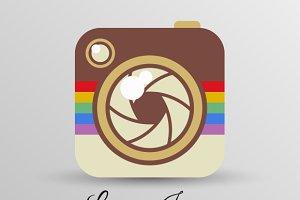 Instagram logo in flat style