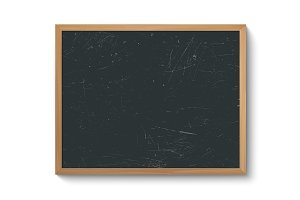 Blackboard in wooden frame.