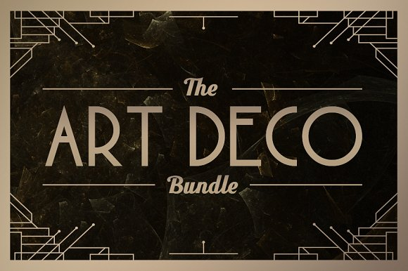 Art Deco Bundle • Save 70% ~ Display Fonts ~ Creative Market