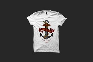 Old Anchor Illustration T-shirt