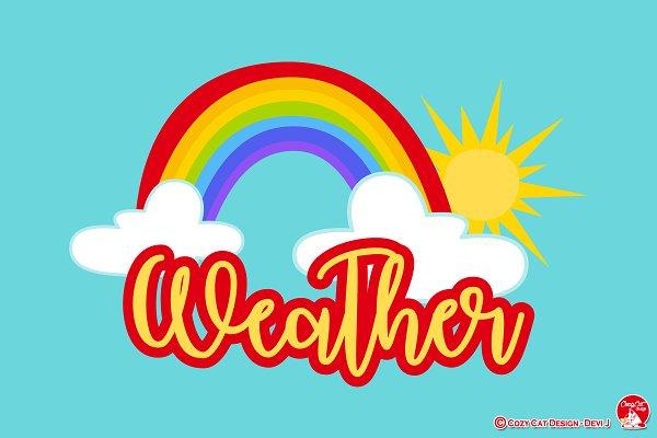 Simple Weather Digital Clip Art