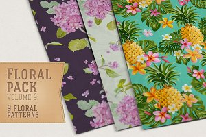 9 Floral Patterns Vol 9