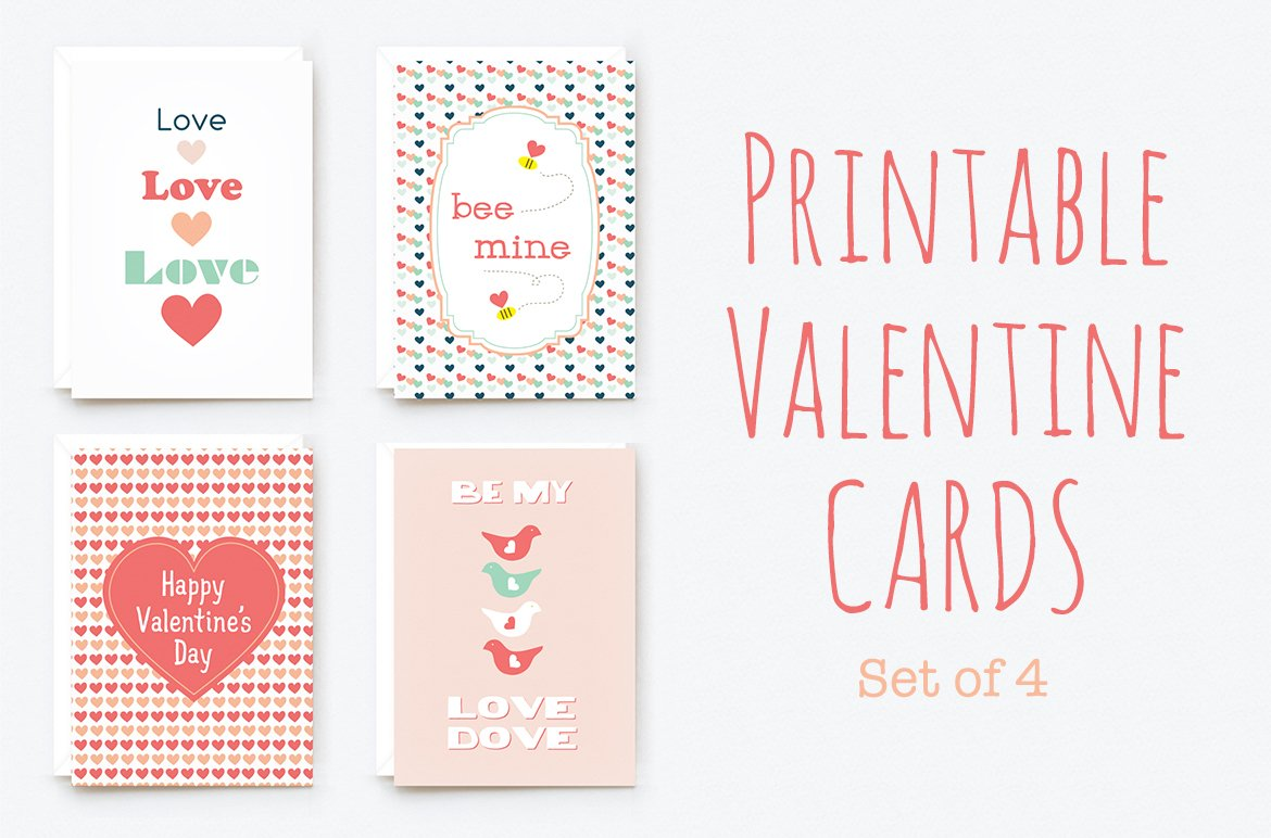 It is a graphic of Adorable Valentine Printables Cards