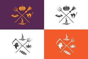 Halloween emblems