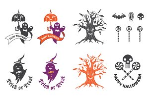 Halloween logo elements