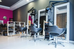 Interior of hair and beauty salon