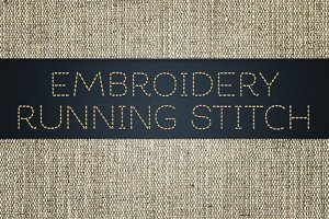 Embroidery Running Stitch