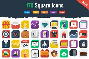 170 Awesome Flat Icons