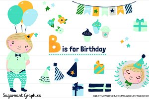 Birthday Boy Clip Art Blonde