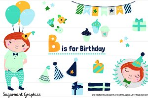 Birthday Boy Clip Art Red-haired