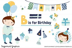 Birthday Clip Art Boy