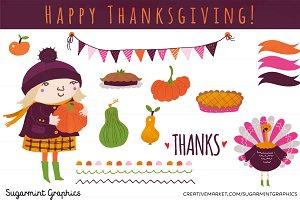 Thanksgiving Clip Art Pumpkin Cute