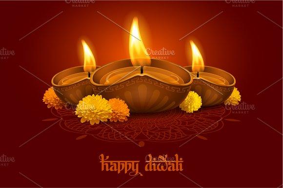 Happy diwali card templates creative market happy diwali cards m4hsunfo