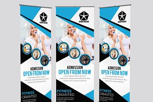 Fitness Roll Up Bnners Template