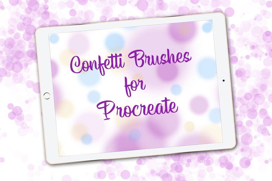 21 Procreate Confetti & Line Brushes