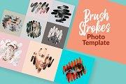 Brush Strokes Photo Templates