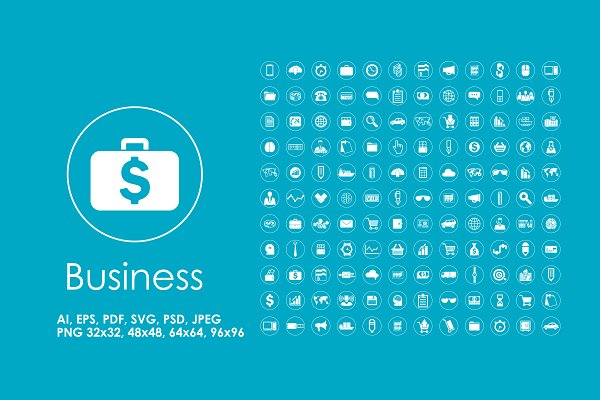 132 Business simple icons