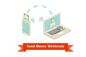 Send money wireless with a phone and