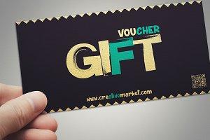 Retro style gift voucher