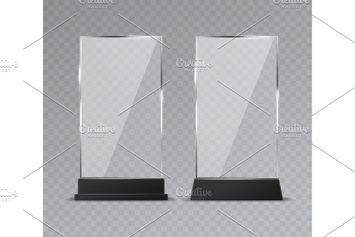 Glass table display. Office