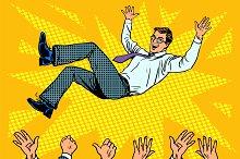 Triumph business success businessman