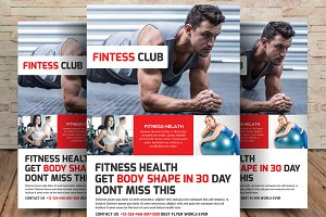 Challenge Fitness Flyer Template ~ Flyer Templates