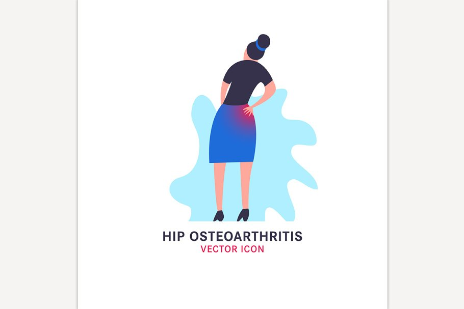 Hip osteoarthritis icon