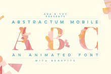 Animated Font | abstract watercolor